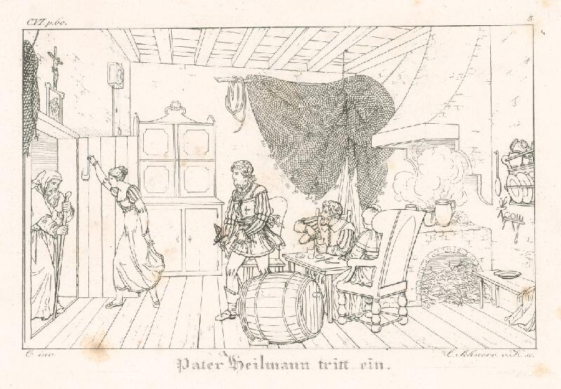 Ludwig Ferdinand Schnorr von Carolsfeld - Peter Heilmann vstupuje do izby