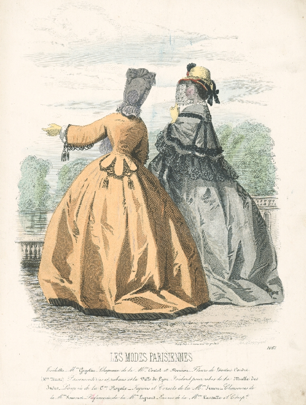 E. Bracquel, Francois Claudius Compte-Calix, E. Bracquet - List z módneho časopisu Les Modes Parisiennes. Modely M.on Gagelin
