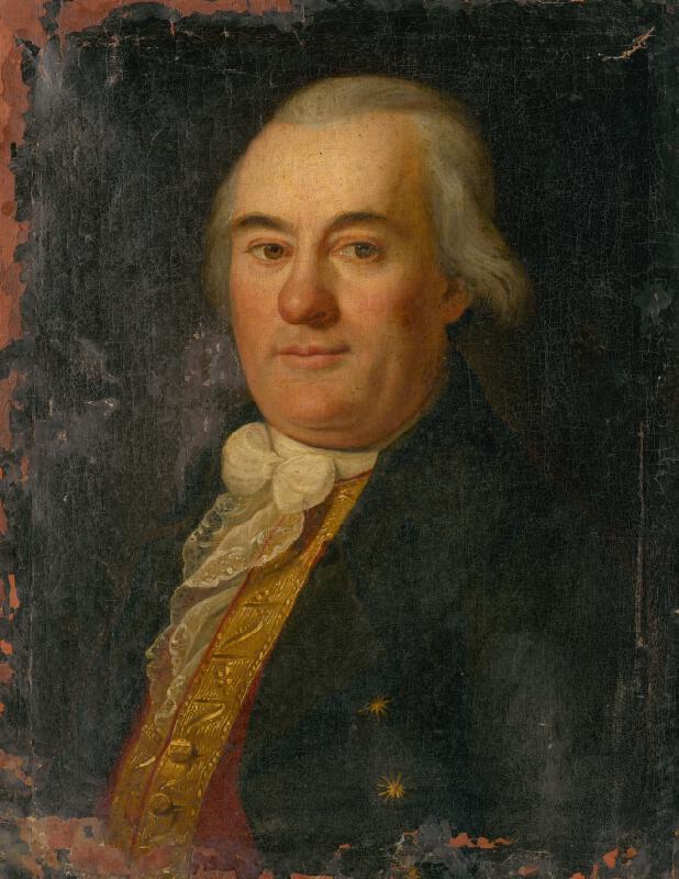 Nemecký maliar z konca 18. storočia - Portrét muža v stredných rokoch