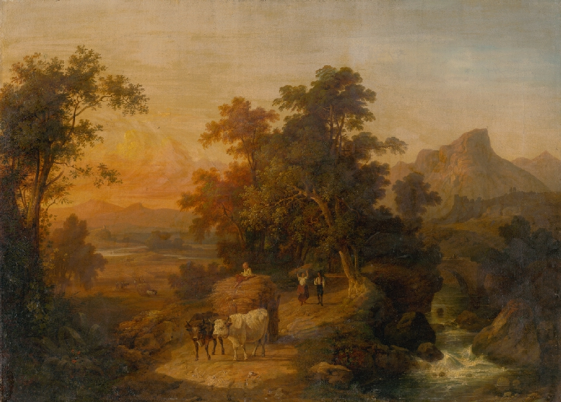 Domenico Bresolin - Krajina pri západe slnka