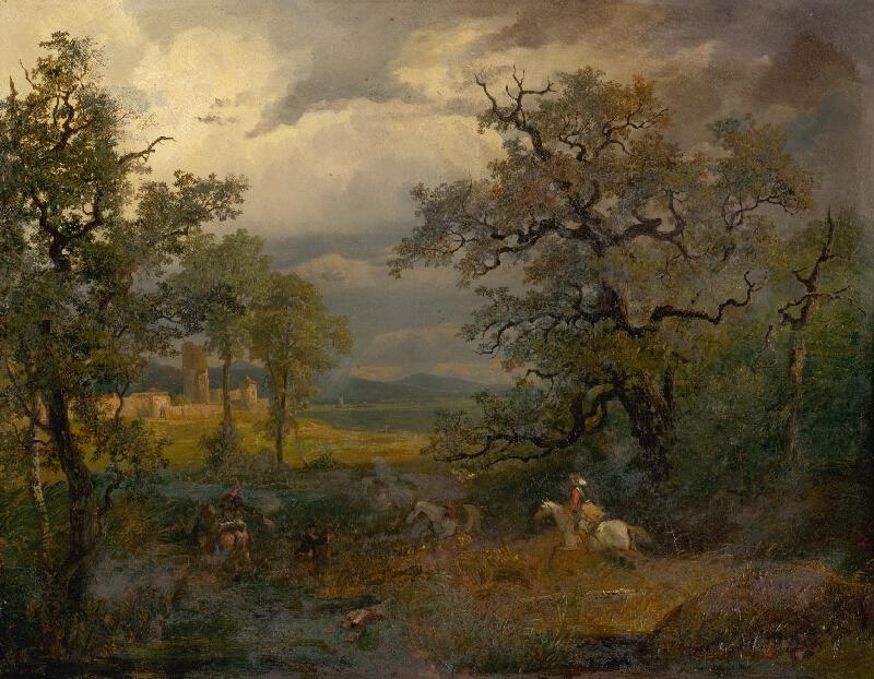 Nemecký maliar z 19. storočia - Jazdecká bitka