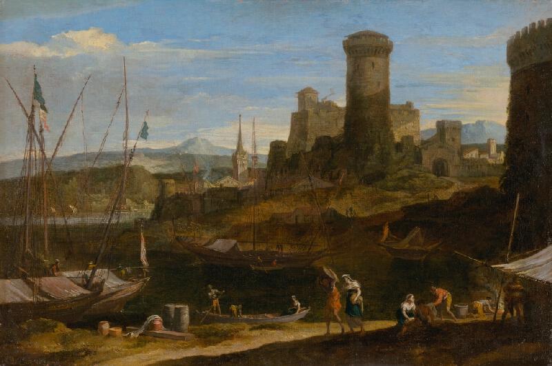 Nemecký maliar z 2. polovice 18. storočia, Johann Anton Eismann - Prímorská krajina II.