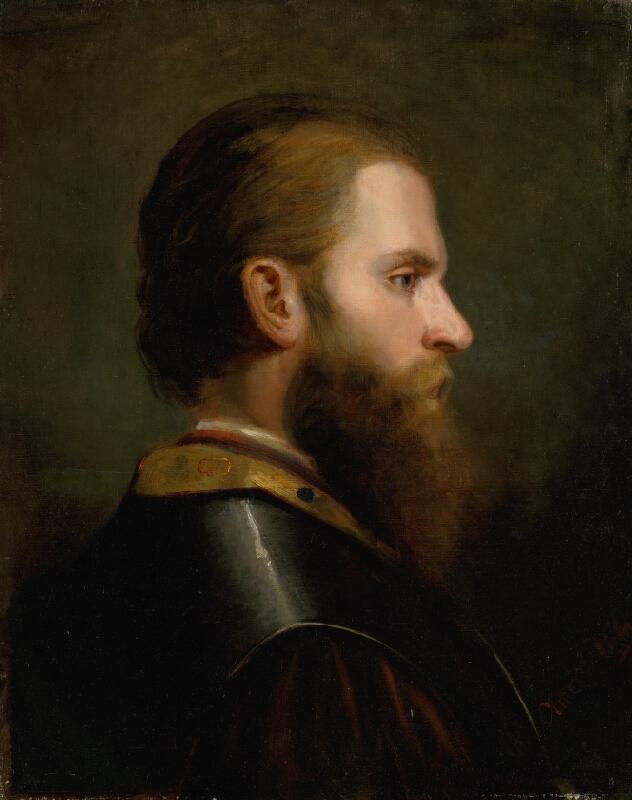 Friedrich von Amerling - Štúdia hlavy muža
