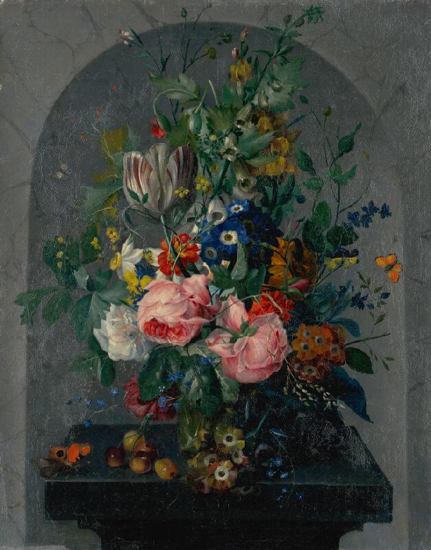 Stredoeurópsky maliar z 2. polovice 18. storočia - Kvetinové zátišie