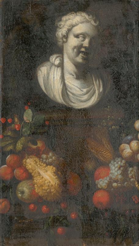 Nemecký maliar z 1. polovice 18. storočia - Ovocné zátišie s bustou II.
