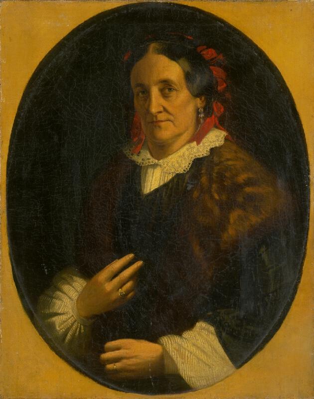Rakúsky maliar z 2. polovice 19. storočia - Portrét ženy