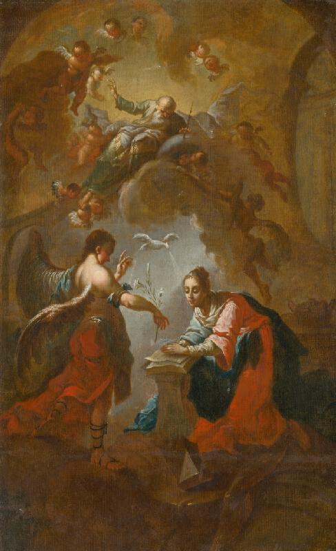 Stredoeurópsky maliar, Taliansky maliar zo 17. - 18. storočia, Ján Ignác Cimbal - Zvestovanie