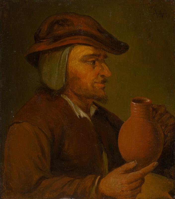 Holandský maliar zo 17. storočia - Muž s džbánom-kópia