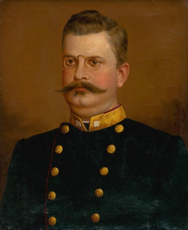 F.J. Dyck - Podobizeň muža v rovnošate