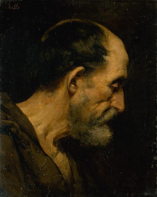 Eduard Ballo - Štúdia hlavy starca