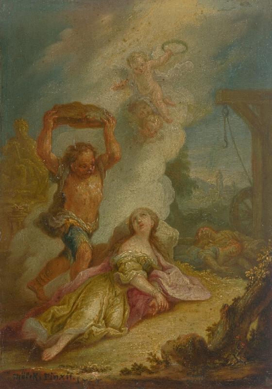 Jozef Adam von Mölck - Umučenie svätej Kataríny