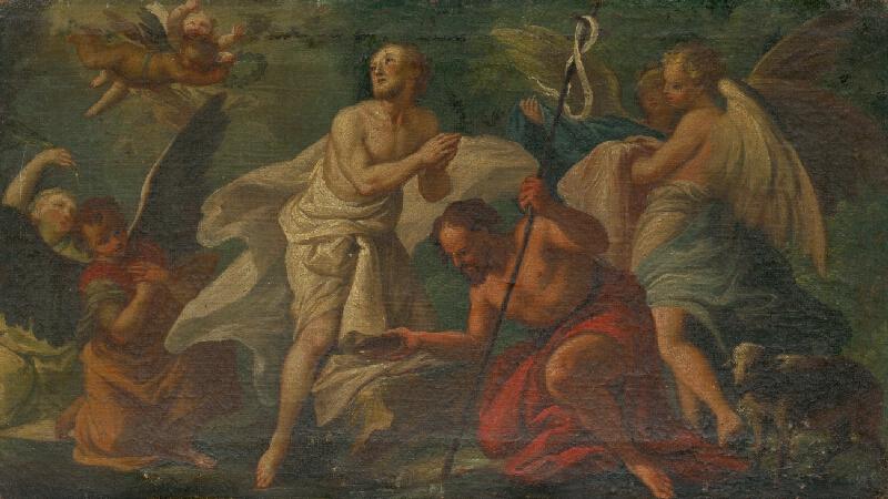 Stredoeurópsky maliar z konca 18. storočia - Krst Kristov v Jordane