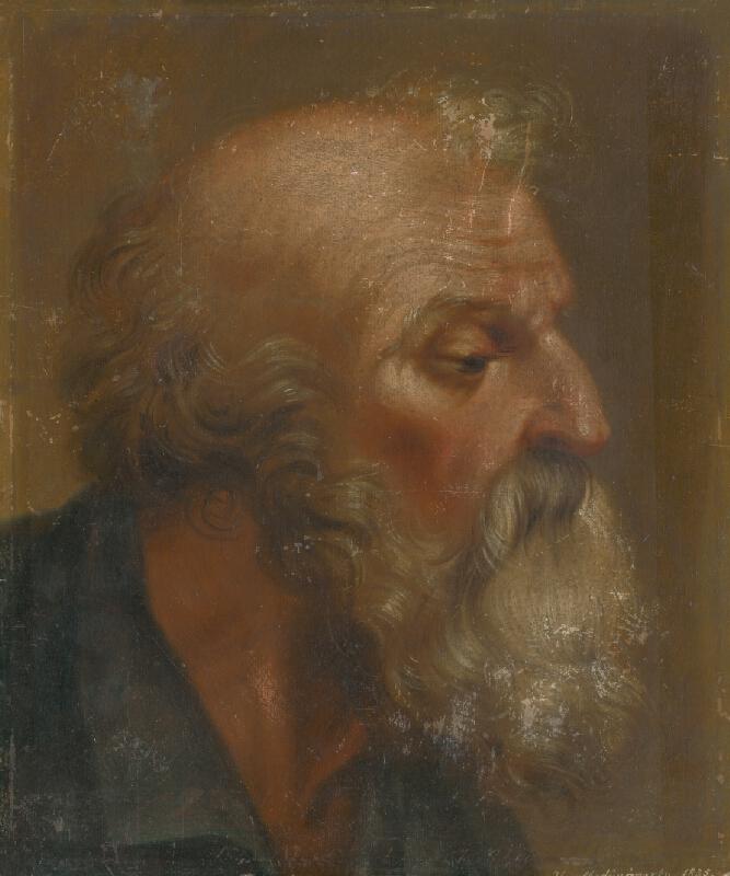 H. Mednyánszky - Štúdia hlavy apoštola