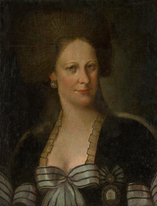 Nemecký maliar z konca 18. storočia - Podobizeň dámy v čiernom