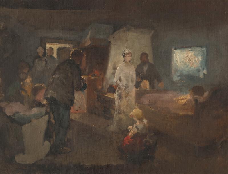 Maximilián Kurth - Štúdia k obrazu Chorá matka
