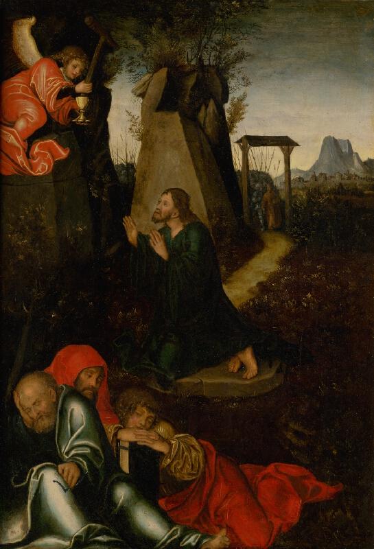 Nemecký maliar z 2. tretiny 16. storočia - Kristus na hore olivetskej
