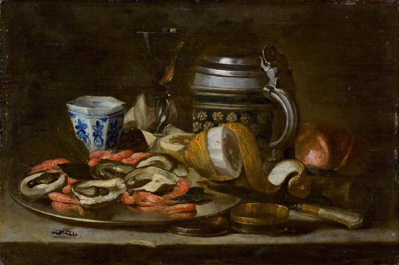 Nemecký maliar z prelomu 17. - 18. storočia, Nemecký maliar zo 17. storočia - Zátišie s rakmi a ustricami