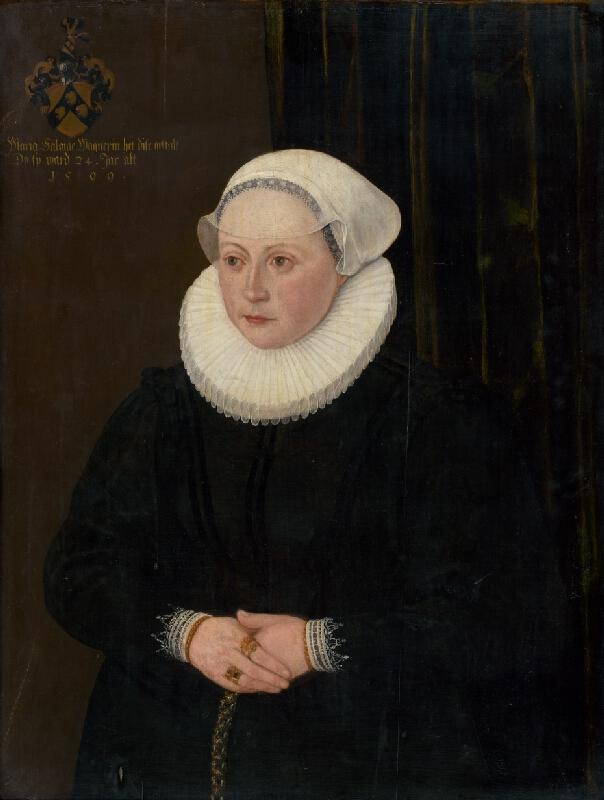 Nemecký maliar z konca 16. storočia - Podobizeň Márie Salome Wagnerin