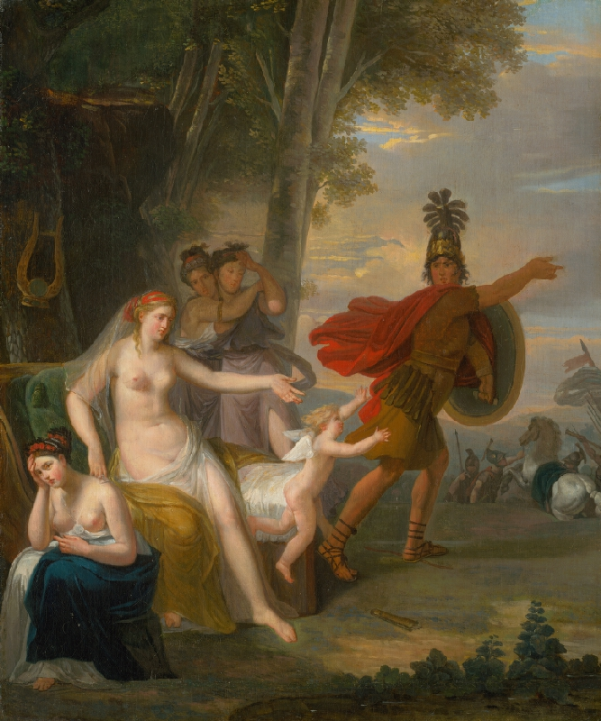 Adam Friedrich Oeser - Rozlúčka Hektora s Andromachou
