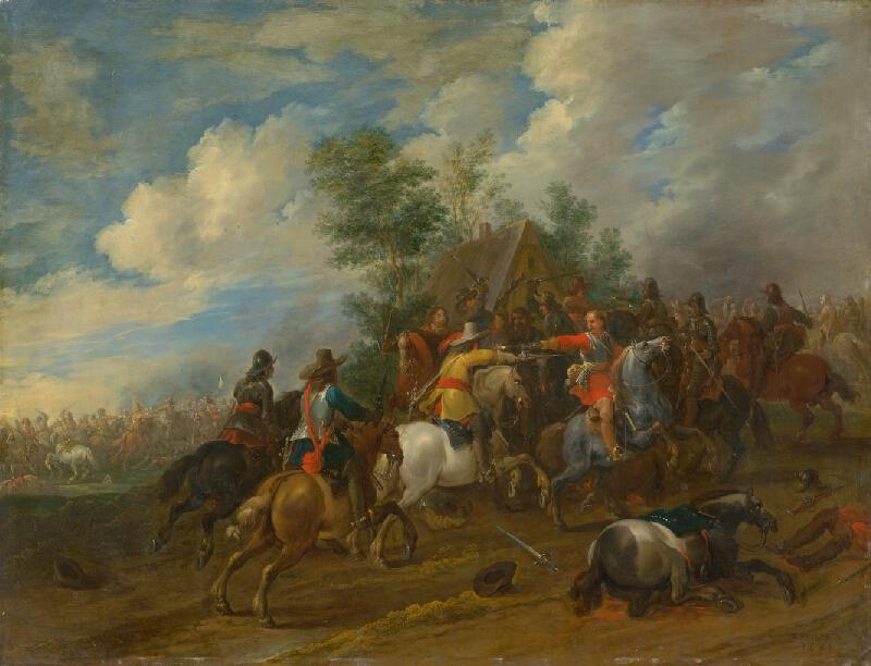 Pieter Meulener - Jazdecká bitka