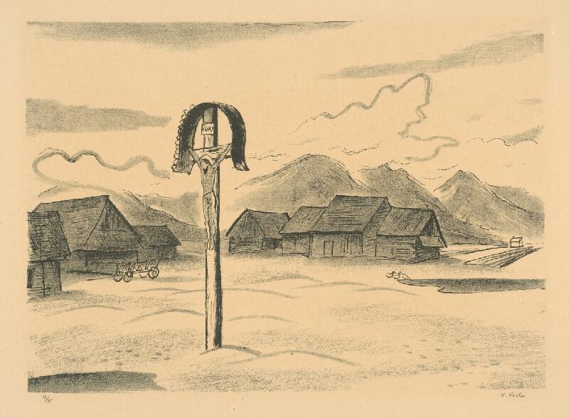 Václav Fiala – Kríž za dedinou, 1931, Slovenská národná galéria