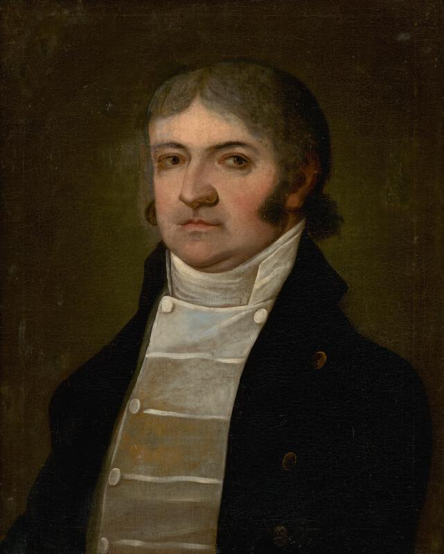 Východoslovenský maliar - Portrét muža v bielej veste