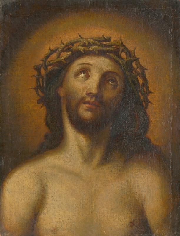 Taliansky maliar zo 17. storočia, Taliansky maliar zo 17. - 18. storočia - Poprsie Krista s tŕňovou korunou