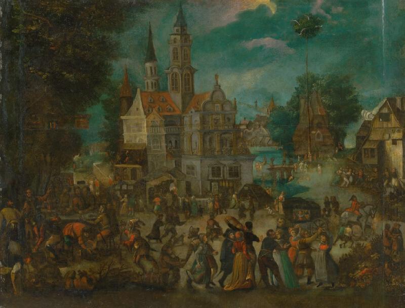 Nizozemský maliar z 18. storočia, David Vinckboons - Veselica pred zámkom