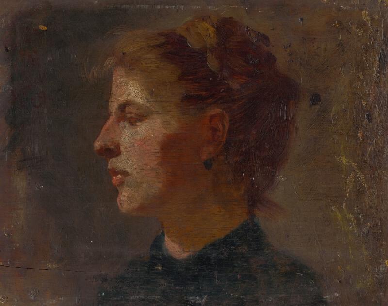 Ferdinand Katona - Štúdia hlavy mladej ženy