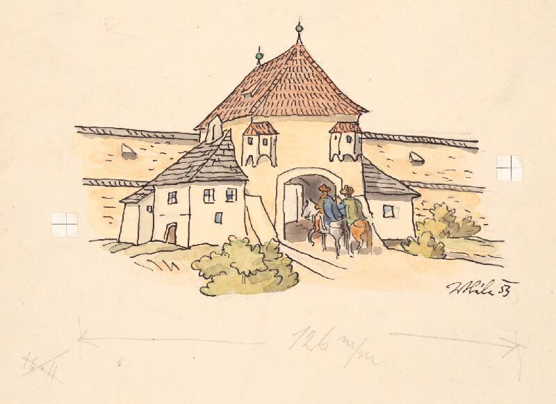 Jan Hála - Vchod do zámku