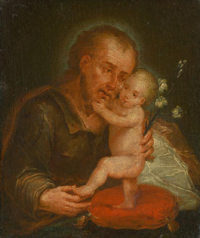 Stredoeurópsky maliar z konca 18. storočia - Svätý Jozef s Ježiškom
