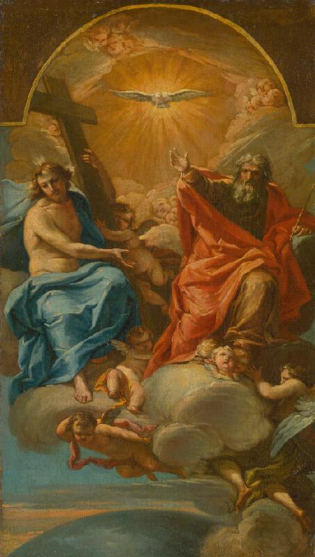 Stredoeurópsky maliar z 3. tretiny 18. storočia - Svätá trojica