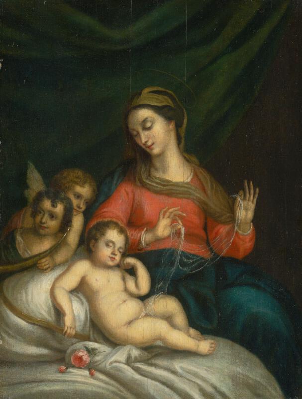 Taliansky maliar zo 17. storočia - Mária s Ježiškom