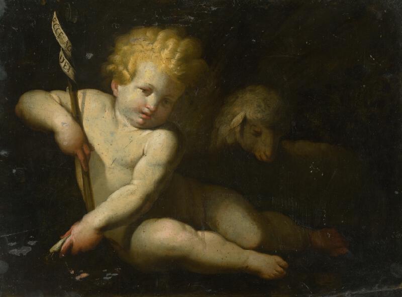 Severotaliansky maliar zo 17. storočia - Ján Krstiteľ ako dieťa s baránkom