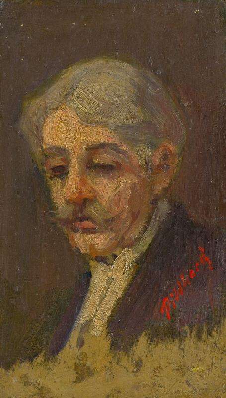 Ľudovít Pitthordt - Portrét starého muža s privretými očami
