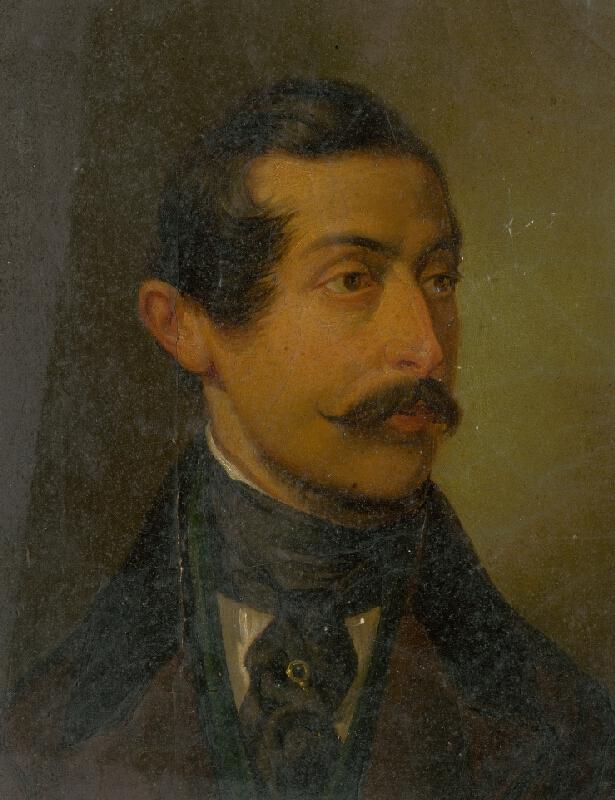 Jozef Czauczik - Portrét muža s ihlicou v nákrčníku