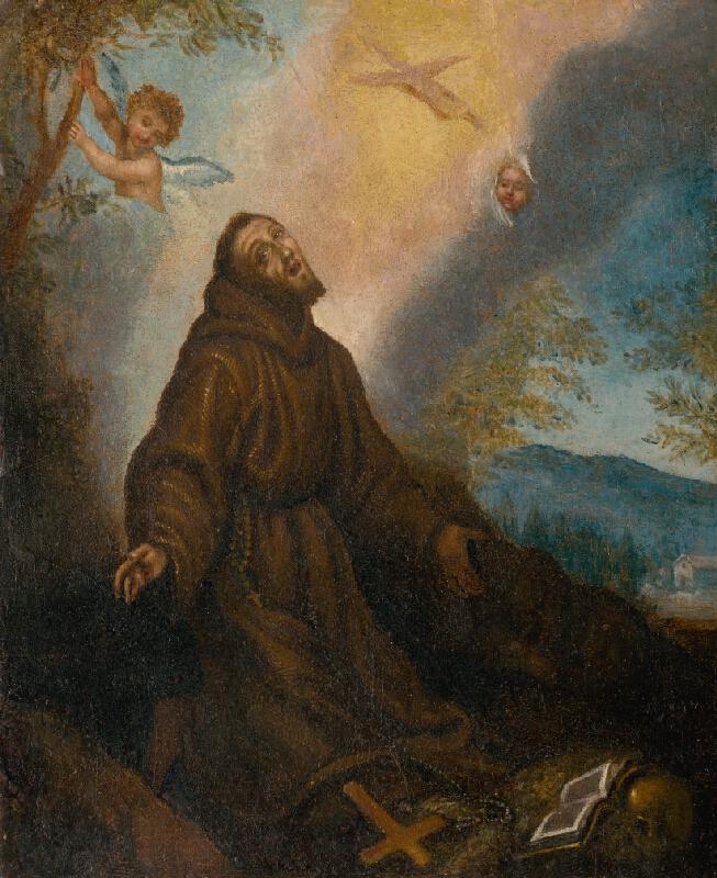 Autor kópie neznámy, Fabrizio Boschi - Stigmatizácia sv. Františka
