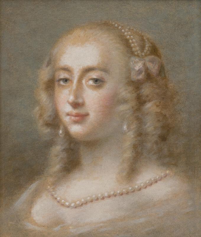 Francúzsky maliar zo 17. storočia - Portrét kráľovej milenky