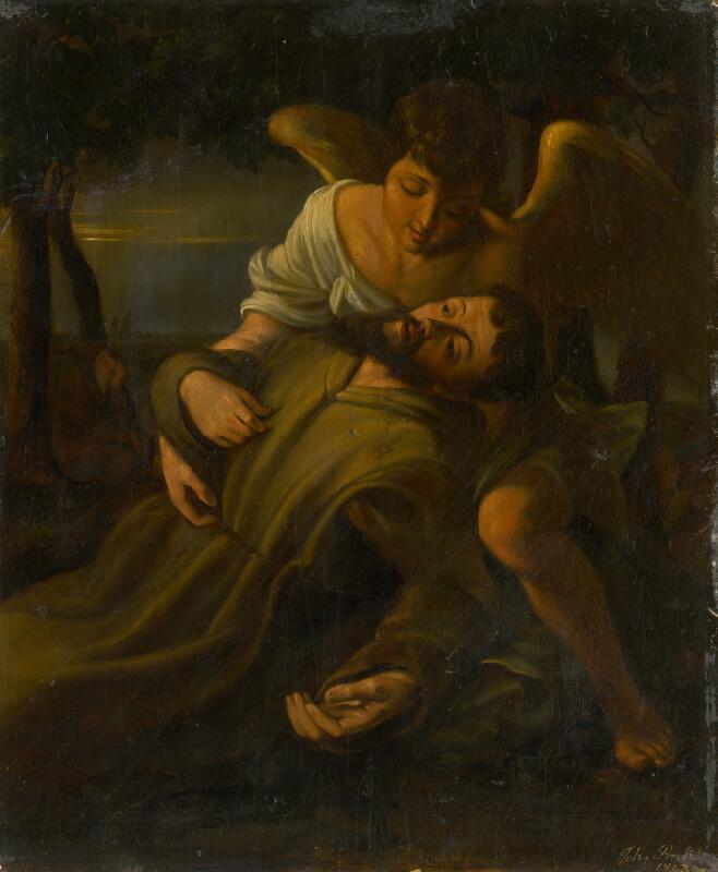 Johann Precht - Sv. František s anjelom