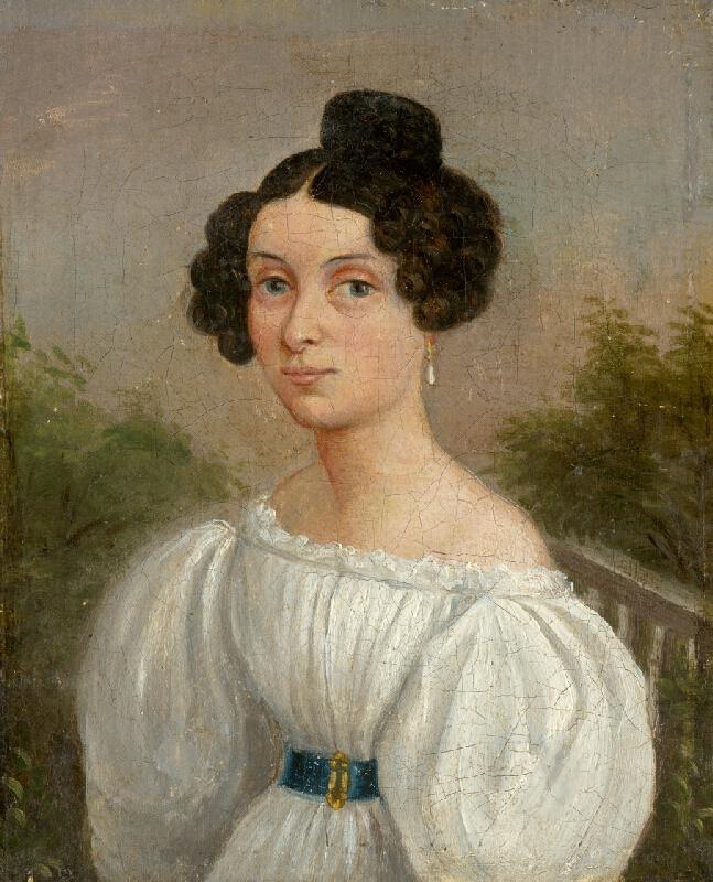 Východoslovenský maliar z 1. polovice 19. storočia, Spišský maliar, Jozef Czauczik - Podobizeň mladej ženy v bielom šate