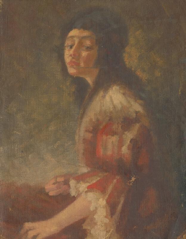Východoslovenský maliar - Štúdia sediacej ženy