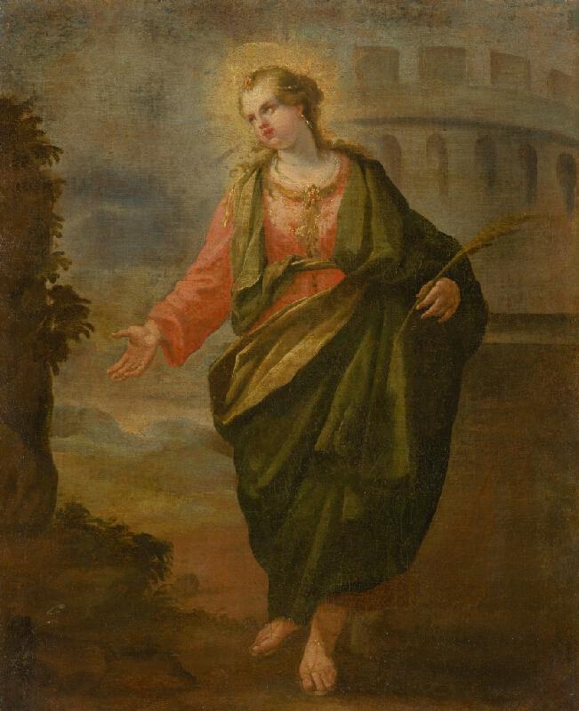 Stredoeurópsky maliar z 2. polovice 18. storočia - Svätá Barbora