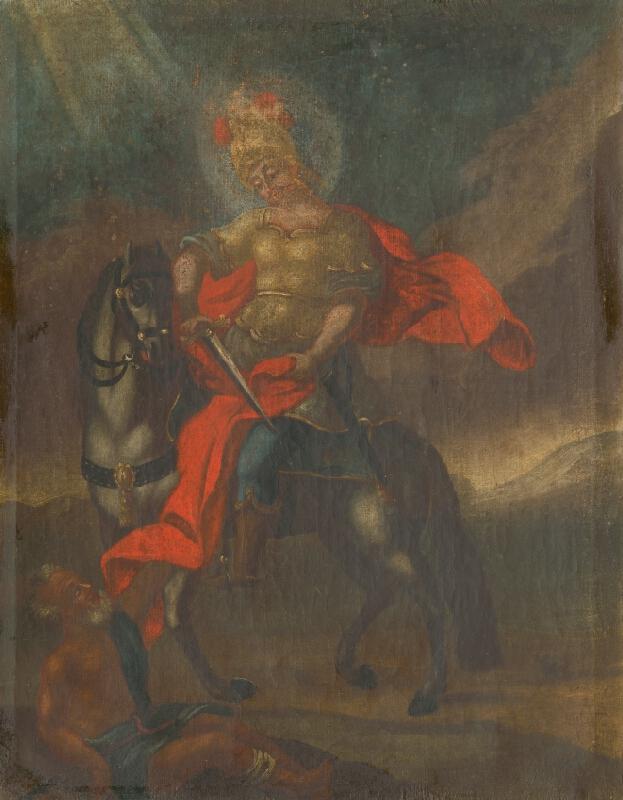 Slovenský ľudový maliar zo začiatku 18. storočia, Neznámy maliar - Svätý Martin