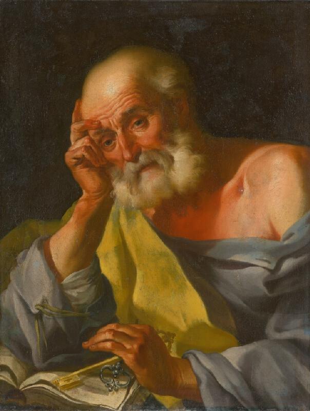 Slovenský maliar z 2. polovice 18. storočia, Neznámy maliar, Johann Lucas Kracker - Svätý Peter