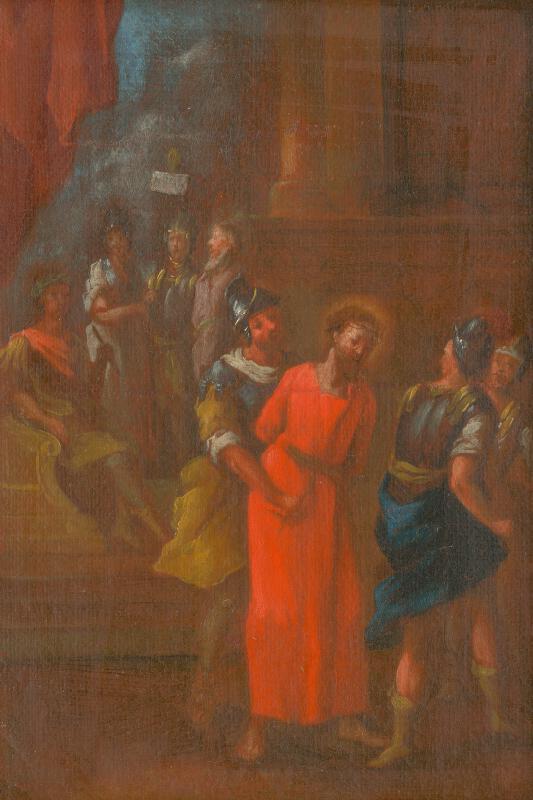 Slovenský maliar z 3. tretiny 18. storočia, Štefan Schaller - Ježiš odsúdený na smrť.Štúdia ku Krížovej ceste I.
