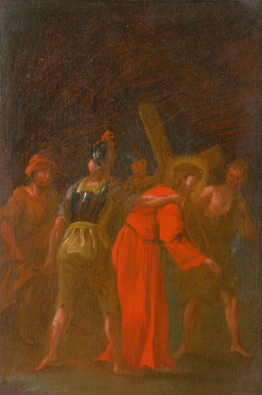Štefan Schaller, Slovenský maliar z 3. tretiny 18. storočia - Šimon Cyrenejský pomáha Ježišovi niesť kríž. Štúdia ku Krížovej ceste V.