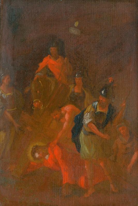 Štefan Schaller, Slovenský maliar z 3. tretiny 18. storočia - Ježiš padá druhý raz pod krížom. Štúdia ku Kríž.ceste VII.