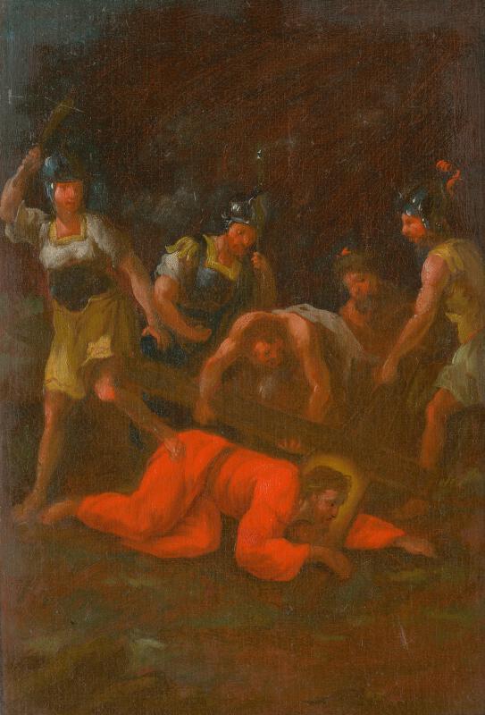 Štefan Schaller, Slovenský maliar z 3. tretiny 18. storočia - Ježiš padá tretí raz pod krížom. Štúdia ku Kríž.ceste IX.