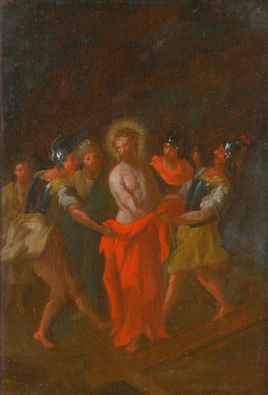 Štefan Schaller, Slovenský maliar z 3. tretiny 18. storočia - Ježišovi zvliekajú šaty. Štúdia ku Kríž.ceste X.