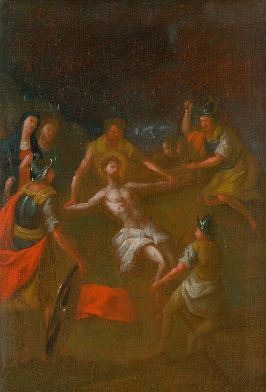 Štefan Schaller, Slovenský maliar z 3. tretiny 18. storočia - Ježiša pribíjajú na kríž. Štúdia ku Krížovej ceste XI.